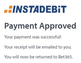 Instadebit approval