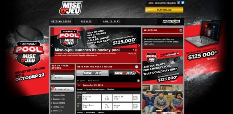 Mise-O-Jeu Sportsbook Review