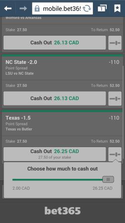 Cash out betting bet365 football bahnhof oberbettingen hillesheim