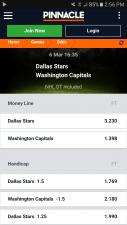 pinnacle sports mobile app